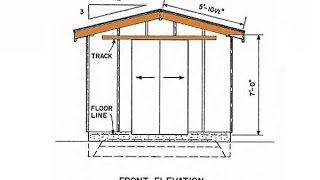 Shed Building Plans For Constructing Wooden Sheds Quickly, Easily And Cheaply