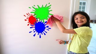 Masal Helps Mommy! Kids Pretend Play with Cleaning Toys! Fun Kids Video