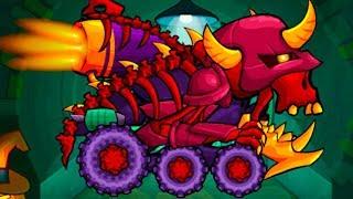 ХЭЛЛОУИН в мультик игре Car Eats Car 3 Машина ест машину - Хищные машины #60 Конфеты с Кидом на МК