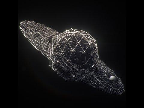 3D wireframe/lattice with Maya Mash.