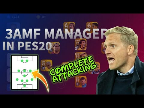 BEST MANAGER WITH 3 AMF & 2 CF 🔥// COMPLETELY ATTACKING🤩//