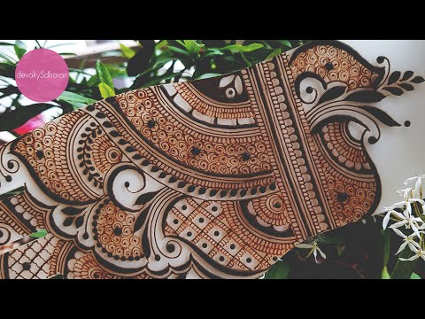Simple Indian mehendi design | Henna tutorials, classes and lessons by Devaky S Dharan