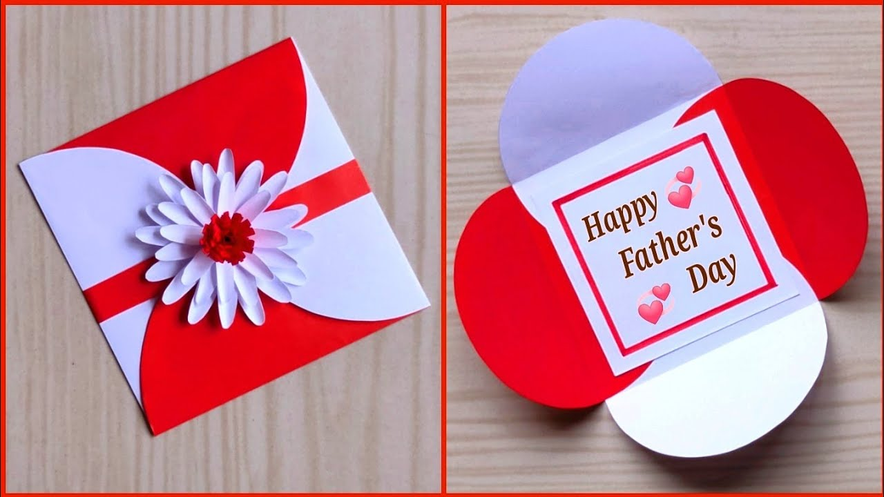 Last minute Father's day card making idea / Easy and beautiful card for father's day