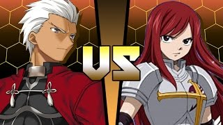 Archer Fate Stay Night Vs Erza Scarlet Fairy Tail Anime Battle Coliseum Come in to read stories and fanfics that span multiple fandoms in the fate/stay night universe. archer fate stay night vs erza scarlet fairy tail anime battle coliseum