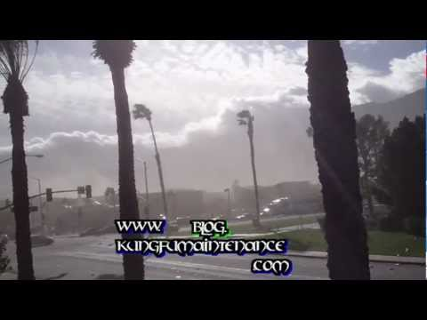 Palm Springs Intense Desert Wind Storm 2012 Record Breaking Winds