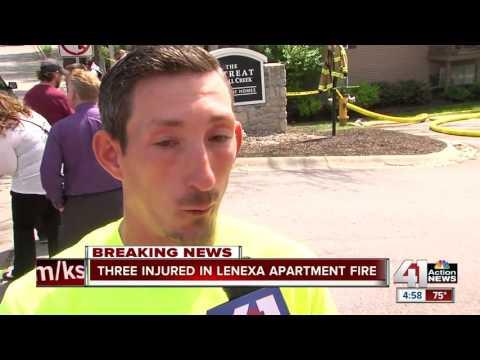 2 children injured in Lenexa apartment fire