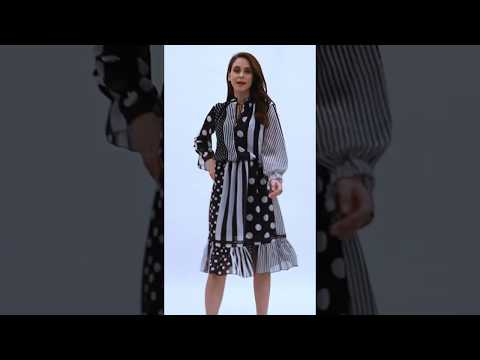 Video: Stylowa sukienka midi we wzory