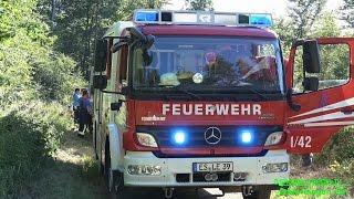 POLIZEIHUBSCHRAUBER ENTDECKT WALDBRAND - (Feuerwehr wurde zum Brand gelotst) - [E]
