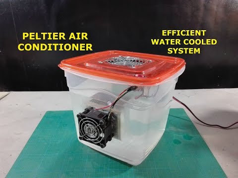 Peltier Air Conditioner - How To Make Peltier Air Conditioner Using Water Cooled Hot Side System