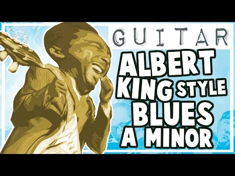 Albert King Style Blues Backing Track in Am