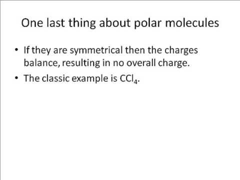 A tutorial about Van der Waals forces for OCR A Chemistry A-level F321