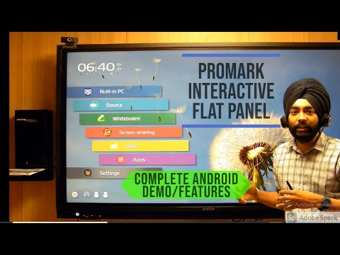 PROMARK INTERACTIVE FLAT PANEL!  INTERACTIVE TOUCH DISPLAY! DIGITAL SMARTBOARD! ANDROID FEATURES!