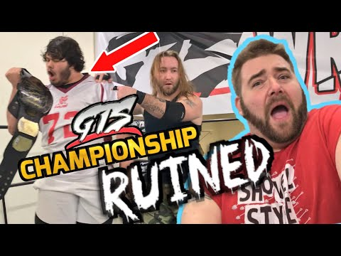 THEY SPRAY PAINTED the GTS CHAMPIONSHIP! GTS Wrestling SUPERCARD PPV EVENT!