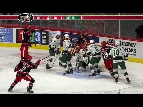 Griffins lose as Iowa scores with 16 seconds remaining