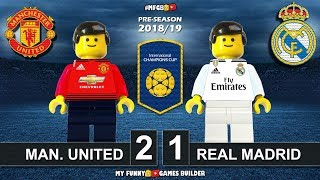Manchester United vs Real Madrid 2-1 • International Champions Cup 2018 • All Goals Highlights Lego