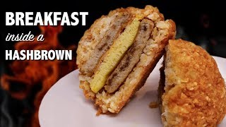 BREAKFAST inside a HASHBROWN - VERSUS