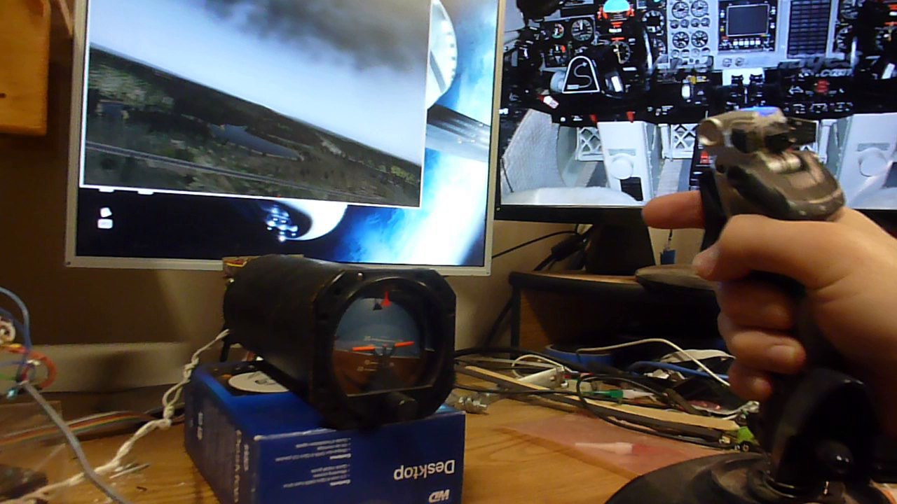 AST-300 Attitude indicator X-Plane demo, Arduino + Python + Ethernet  Interface