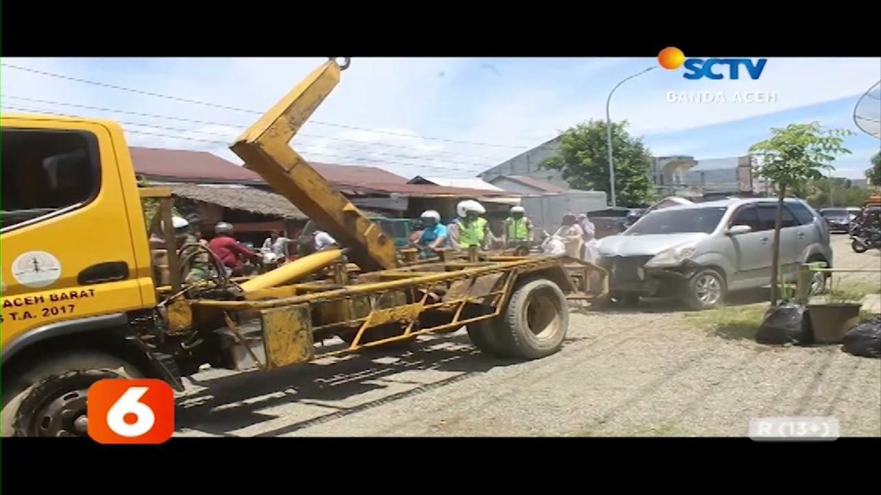 Tiga Mobil Terlibat Tabrakan Beruntun   Liputan 6 SCTV Aceh