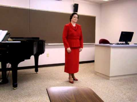 "Kris Stephens sings ""O del mio dolce ardor""; ""Oliv..."
