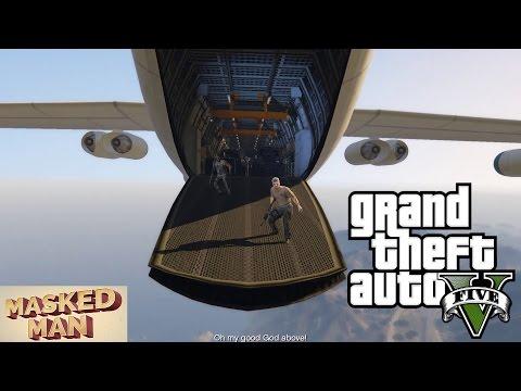 GTA 5 - Mission #47 - Minor Turbulence Plane Hijack at 36K Feet with Furious 7 Stunt