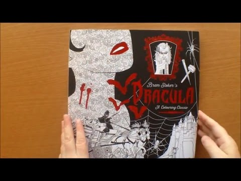 Bram Stoker's Dracula A Colouring Classic by Chelie Carroll Colouring Book Flipthrough