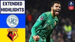 Capoue Strike Sends Watford into Quarter-finals   QPR 0-1 Watford   Emirates FA Cup 2018/19