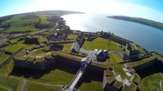 Charles Fort and the White Lady legend Kinsale, Ireland. Aerial view.