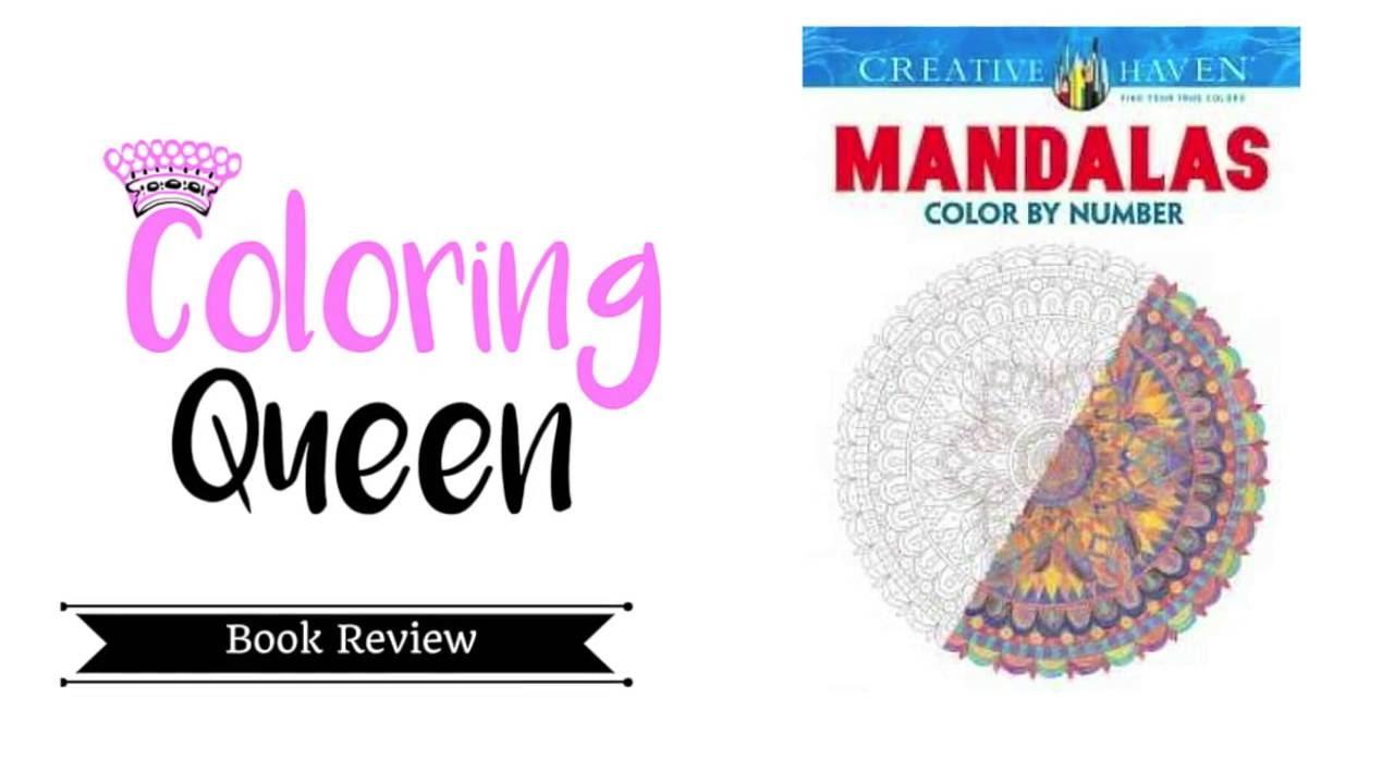 Mandalas Color By Number Coloring Book Review Youtube - Mandalas-en-color