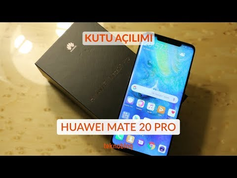 Huawei Mate 20 Pro Kutu Açılımı