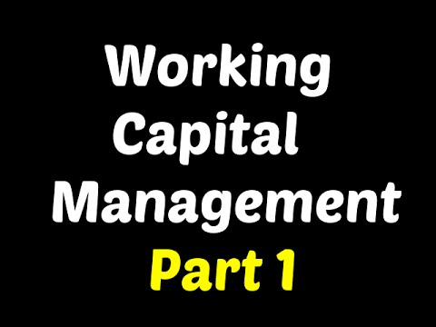 Working Capital Management - Financial Management - Shivansh Sharma
