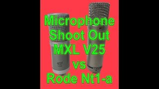 MIC SHOOT OUT - MXL V250 vs Rode NT1-a