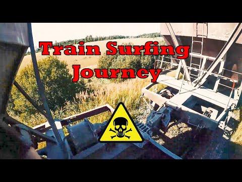 Dangerous TRAIN SURFING Between Cities