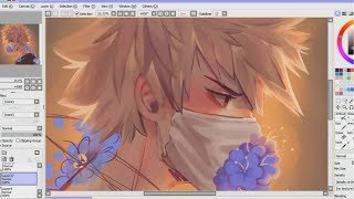 Painttool sai painting tutorial- [Bakugou] speedpaint