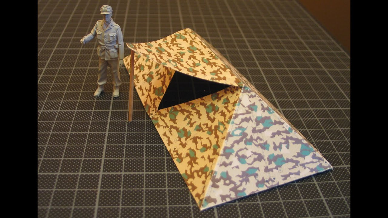 & How to - Zeltbahn tent in 1/35 scale - YouTube