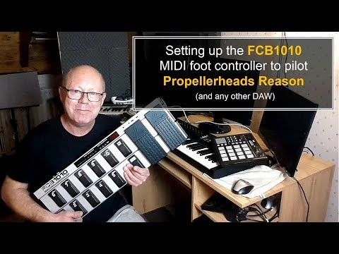 Setting Up The Behringer FCB1010 MIDI Foot Controller To Pilot Propellerheads Reason (Tutorial)
