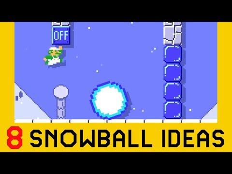 8 Ideas With Snowballs | Super Mario Maker 2