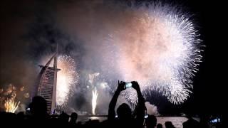 Dubai New Year Fireworks 2017 ( HD ) near burj al arab