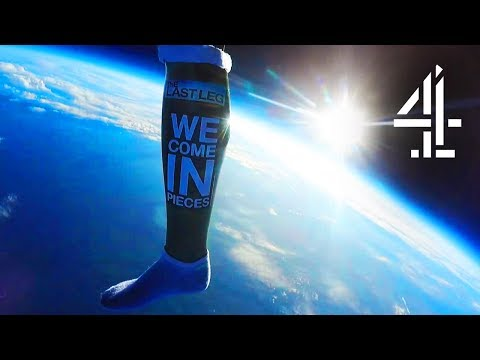 The Last Leg SERIOUSLY Sent A Prosthetic Leg To Space!!