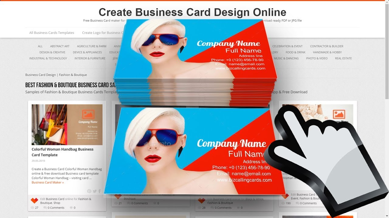 Fashion Boutique Business Card Examples Youtube