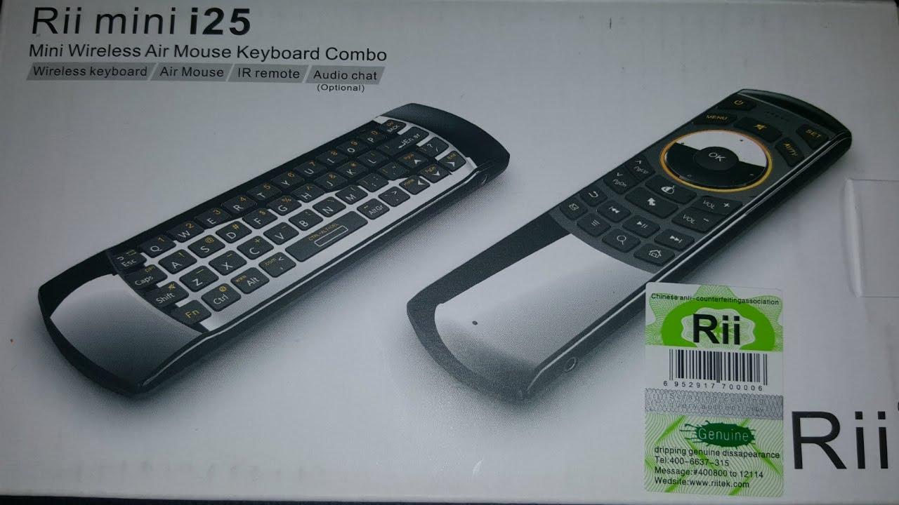 f84ce5dddcb Unboxing of Rii Airmouse i25 (K25 Model)/Keyboard Combo - YouTube