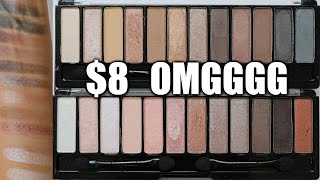 $8 EYESHADOW PALETTE TESTED!! OMG