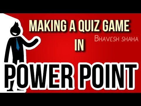 [Tutorial] How to make an interactive quiz game in MS Power Point (PPT)