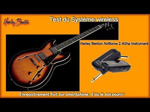 Harley Benton HB 35. Système sans fil  :  Harley Benton AirBorne Instrument