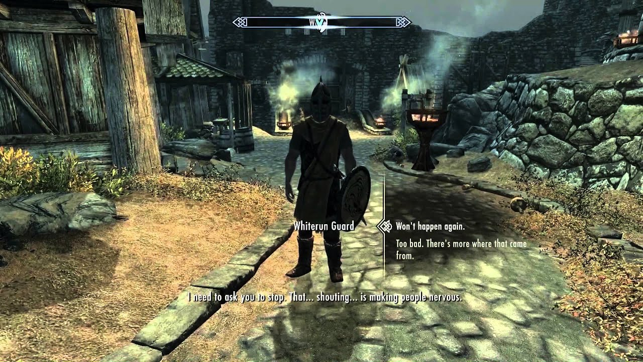 Stop shouting guards - Skyrim