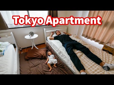 Living in Japan - TOKYO APARTMENT TOUR in Shinjuku   Where To Stay in Tokyo $60 Per Night!