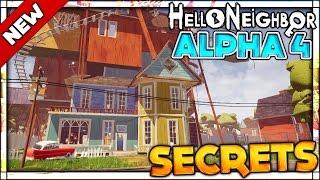DOUBLE JUMP AND ENTERING THE BASEMENT (ENDING + ALL SECRETS KEYS) | Hello Neighbor Alpha 4