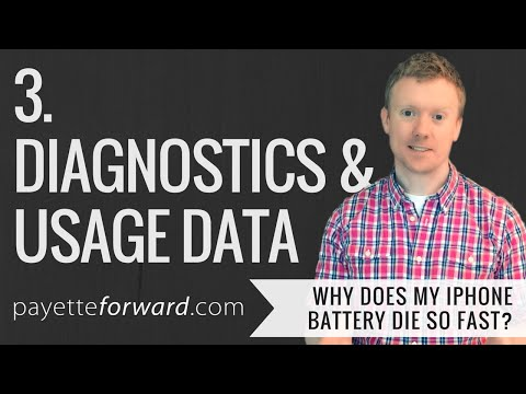 Why Does My iPhone Battery Die So Fast? 3. Diagnostics & Usage Data