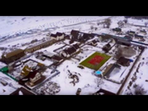 Съёмка с вертолёта ROBINSON. Облёт села Никольское. Астраханская область