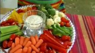 How To Make Vegetable Platters : Vegetable Platter Dips