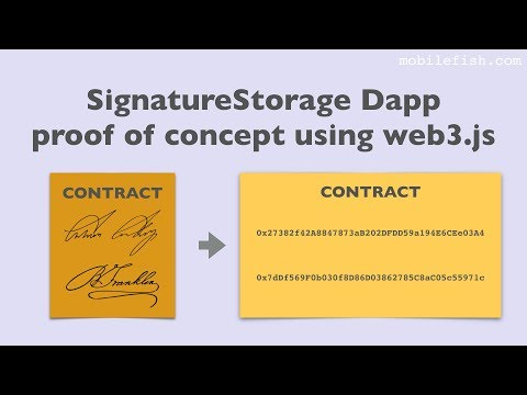 Ethereum SignatureStorage Dapp proof of concept using web3.js